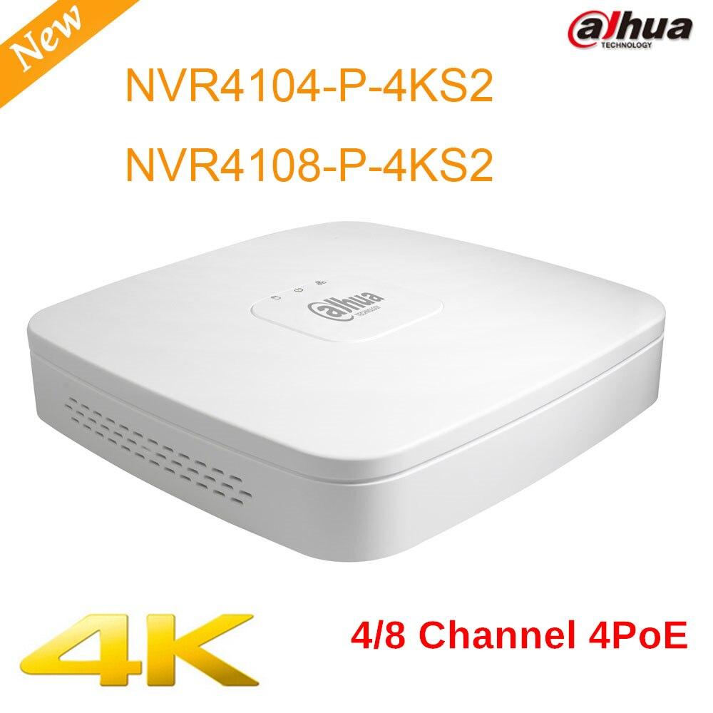 Dahua NVR NVR4104 P 4KS2 NVR4108 P 4KS2 4k high definition 4ch 8chl Smart 1U 4PoE