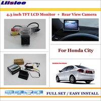 Liislee For Honda City Auto Rear View Camera Back Up + 4.3 LCD Monitor = 2 in 1 Parking System