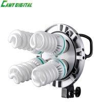 Photo Studio Godox TL 4 4in1 E27 Socket Tricolor Bulb Light Lamp Head Continuous Light For