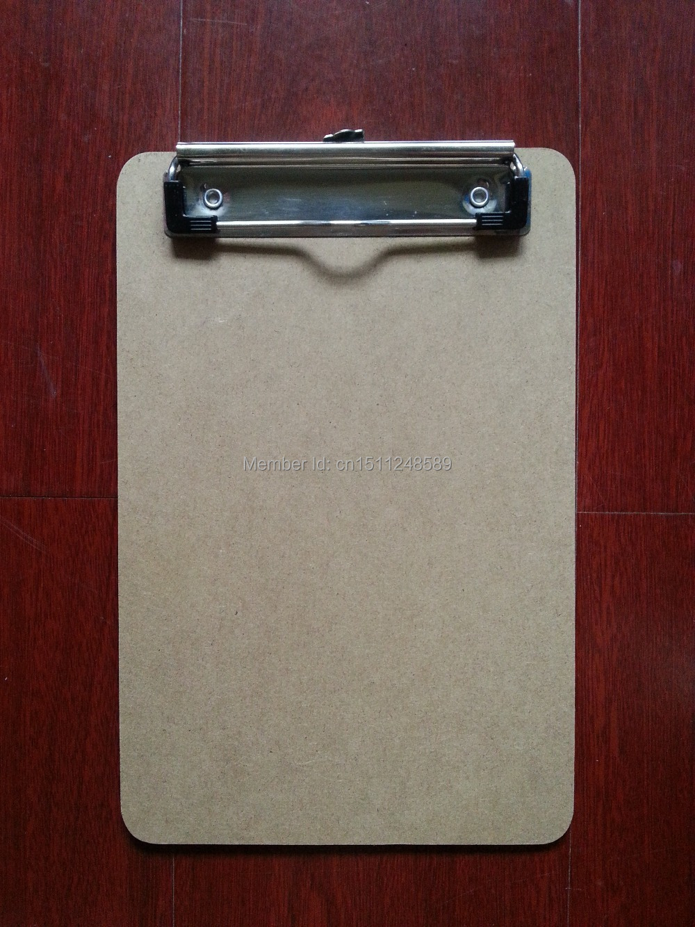 A5 MDF clipboard writing pad Wooden file clip board menu clipboard with plate clip office supplies