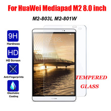 цены 9H Screen Protector For HuaWei Mediapad M2 8.0 Tempered Glass for HuaWei M2 M2-801L M2-801 M2-803L M2-802 Protective Glass Guard