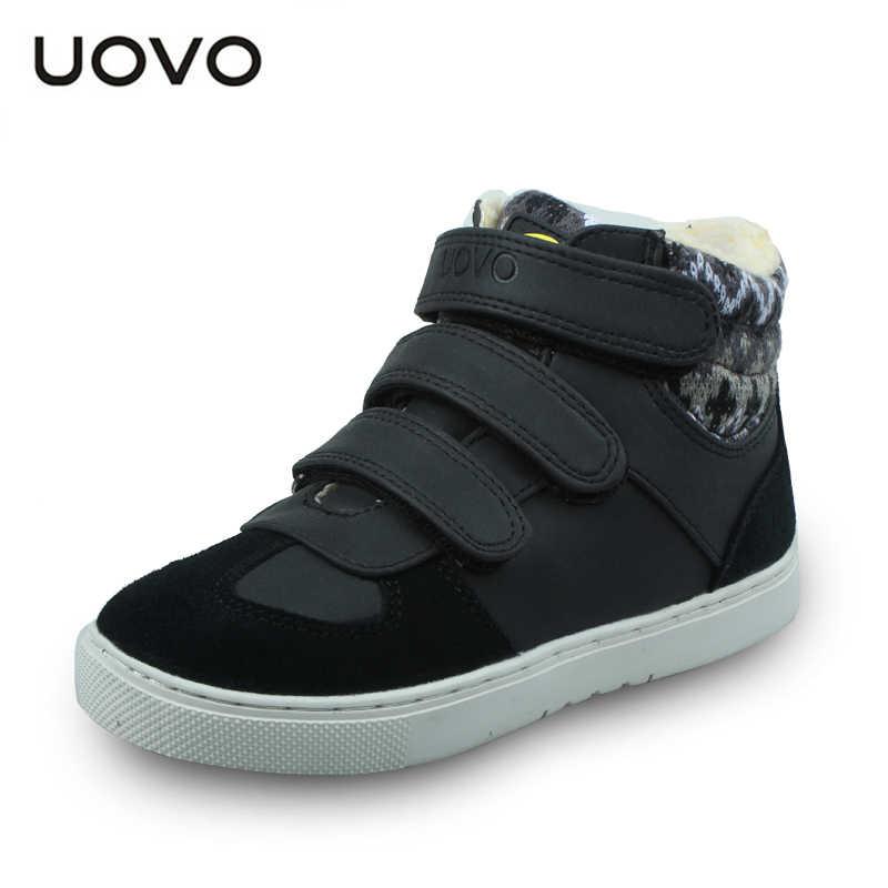 UOVO ฤดูหนาวรองเท้าผ้าใบเด็กแฟชั่นกีฬารองเท้าสำหรับเด็ก Big Boys And Girls รองเท้าขนาด 30 # - 39 #