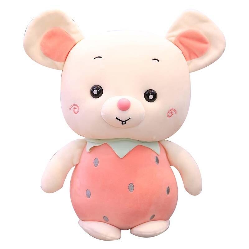Cuteклубника Ананасовый фруктовый крот, плюшевая игрушка, мультяшная кукла, программное обеспечение, хлопковая Подушка, кукла мышка, плюшева...