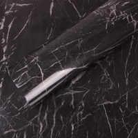 SUNICE noir marbre imperméable vinyle auto adhésif papier peint Contact papier cuisine placard étagère tiroir Liner Stickers muraux