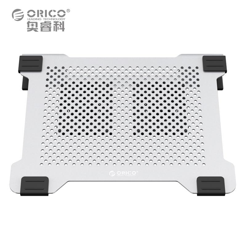 ORICO NA15 Base de refroidissement en aluminium pour ordinateur portable pour Apple MacBook coussin de refroidissement en métal refroidissement bureau debout