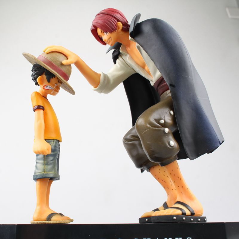 action figures Anime Straw Hat Luffy Shanks red hair ornaments gift doll toys 18m child luffy models pvc collection