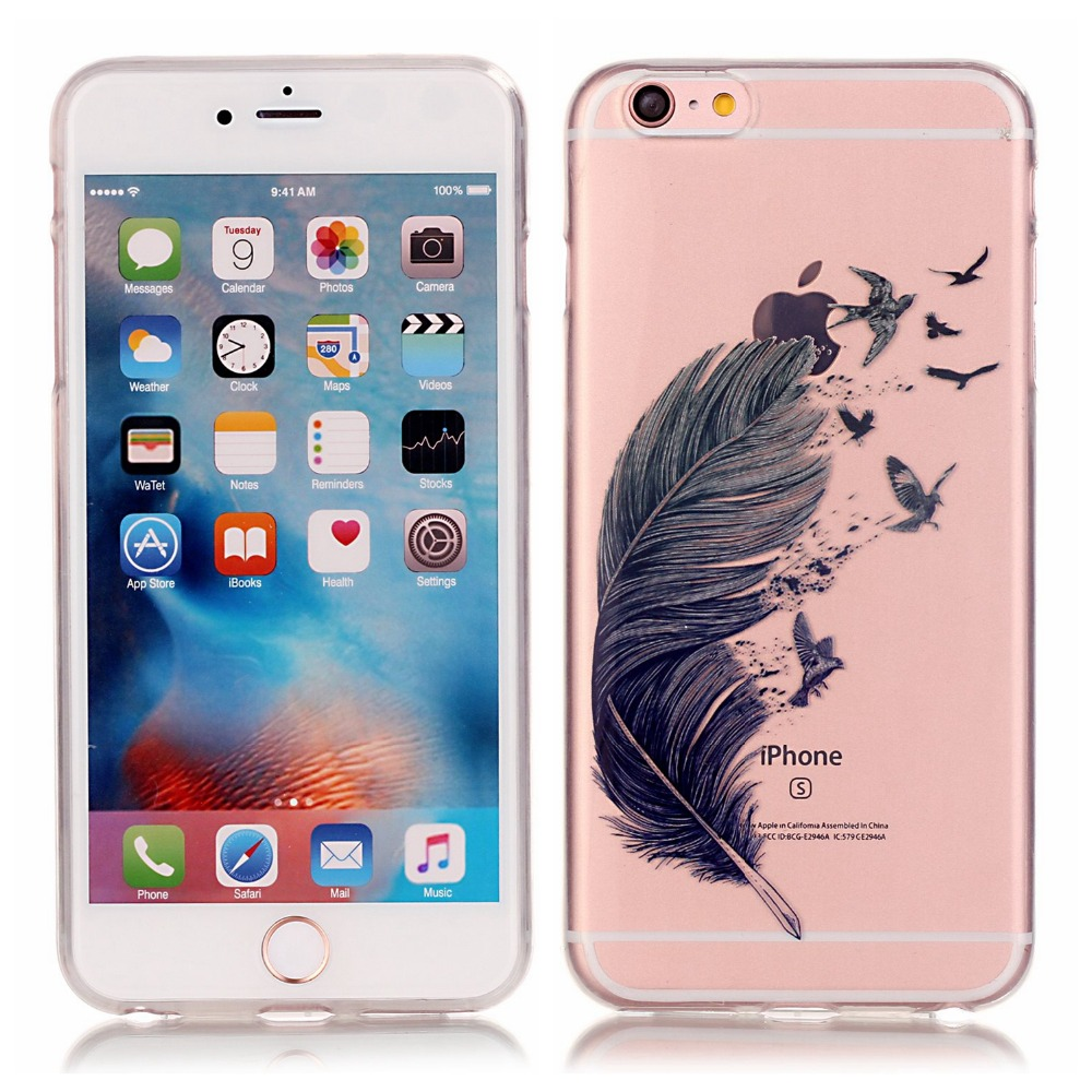 For Apple iPhone 5 5S SE 6 6S 6 plus 6S plus Cases Anti-proof Phone Case Pretty Diverse Pattern TMD+TPU Soft Silicone Cover Case