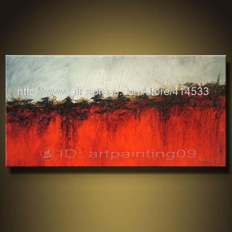 Cheap Art Decor: Modern Abstract Landscape Oil Paintings Art Deco Cheap