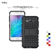 Wolfsay For Case Samsung J7 2015 Cover Heavy Duty Armor PC+Rubber Case For Samsung J7 case For Samsung Galaxy J7 2015 J700F *