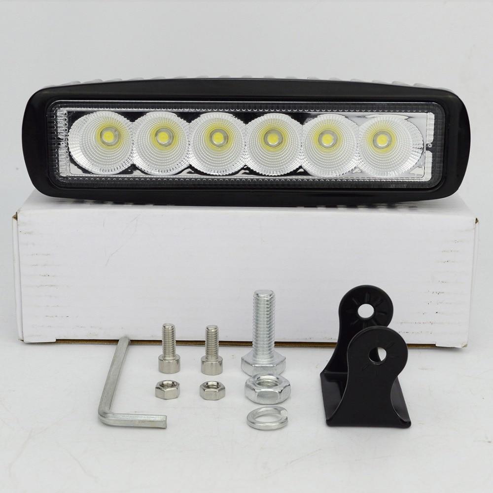 2pcs 6 ιντσών LED 18W LED εργασίας για - Φώτα αυτοκινήτων - Φωτογραφία 4