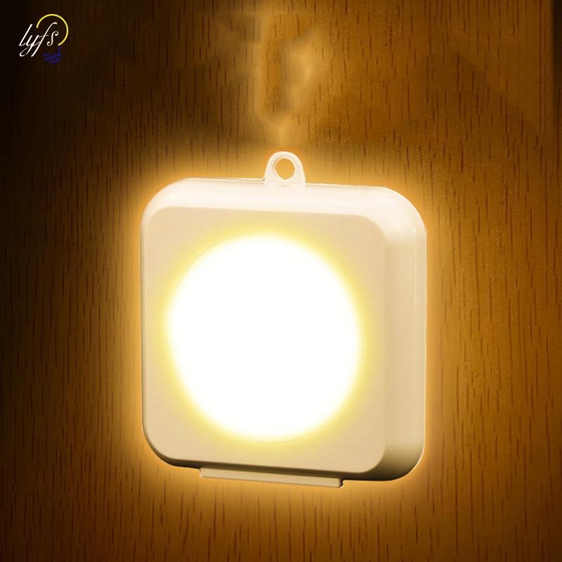 LED Motion Sensor Night Light Indoor Battery Powered Motion Sensor Lamp Indoor For Hallway Bathroom Bedroom Stairs Corridor