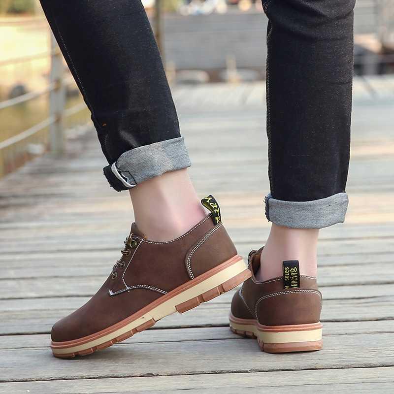 Sapatos de couro masculino preto sapatos formais verão oxford sapatos para homem apartamentos retro fundo grosso rendas até zapatos de hombre tamanho 39-45