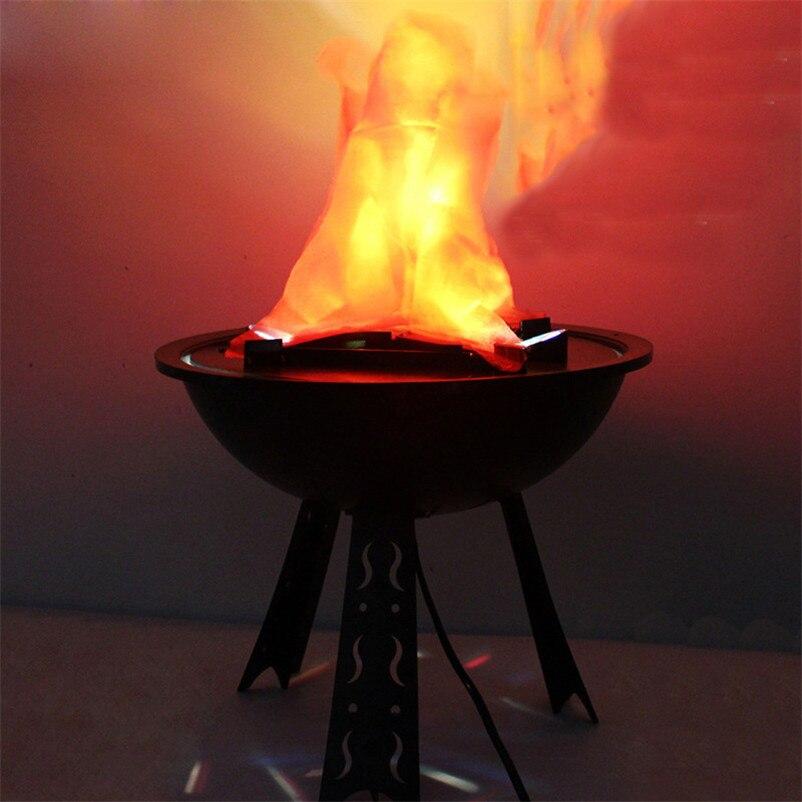 Halloween simulação eletrônica falso chama fogo pendurado lâmpada braseiro luz bacia casa clube bar casa assombrada festa decoração