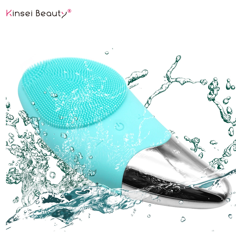 Silicone Electric Facial Cleansing Brush Deep Cleaning Face Ultrasonic Cleanser Eye Vibration Massage Face Cleansing Instrument Silicone Electric Facial Cleansing Brush Deep Cleaning Face Ultrasonic Cleanser Eye Vibration Massage Face Cleansing Instrument