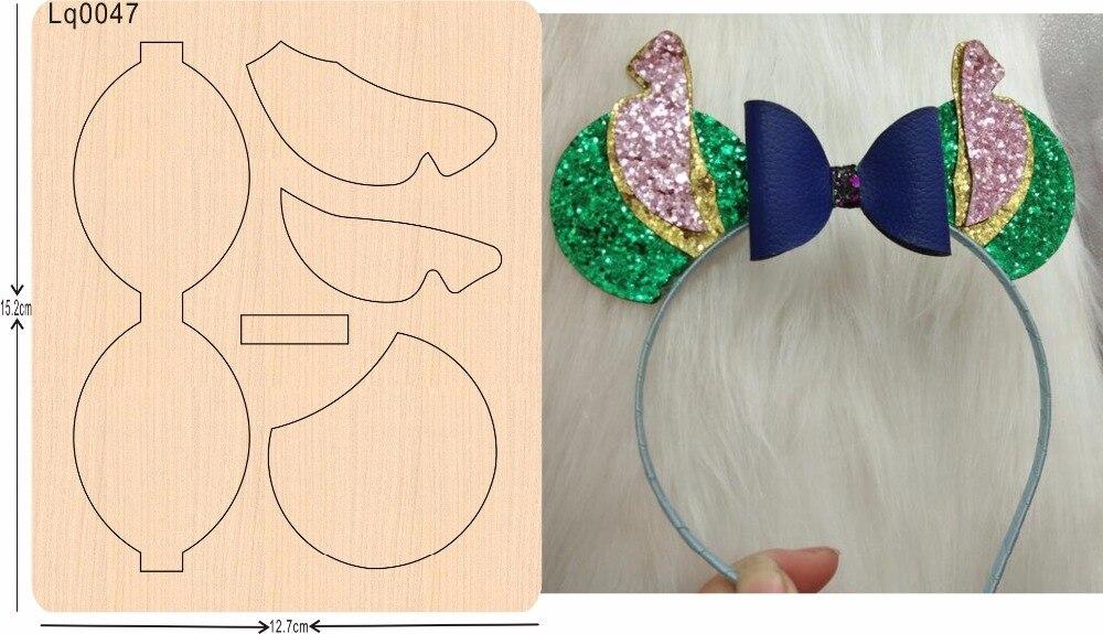 Papillon en épingle à cheveux nouveau en bois moule matrices de découpe pour scrapbooking Thickness-15.8mm