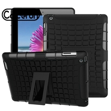 Phone Cover Case for Apple iPad 2 Case IPad 3/ Ipad 4 Bag Hybrid Heavy Duty Stand Skin Rugged Silicon PC Rubber Armor Housing 2016 new shockproof heavy duty case for ipad 2 3 4 protect skin rubber hybrid silicon pc cover cases