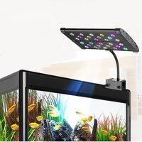 84W 15 Green Element Full Spectrum Clip On LED Aquarium Lighting Freshwater Plants Grow LED Fixture Fish Tank Marine Reef 5730