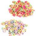50 шт./лот конфеты цвет 2.5 см диаметр бесшовные эластичные канаты ребенков ленты для волос галстуки дети аксессуары