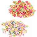 50 Pcs/lot Candy Color 2.5cm diameter Seamless Elastic Ropes Baby Girls' Hair Bands Ties Kids Accessories