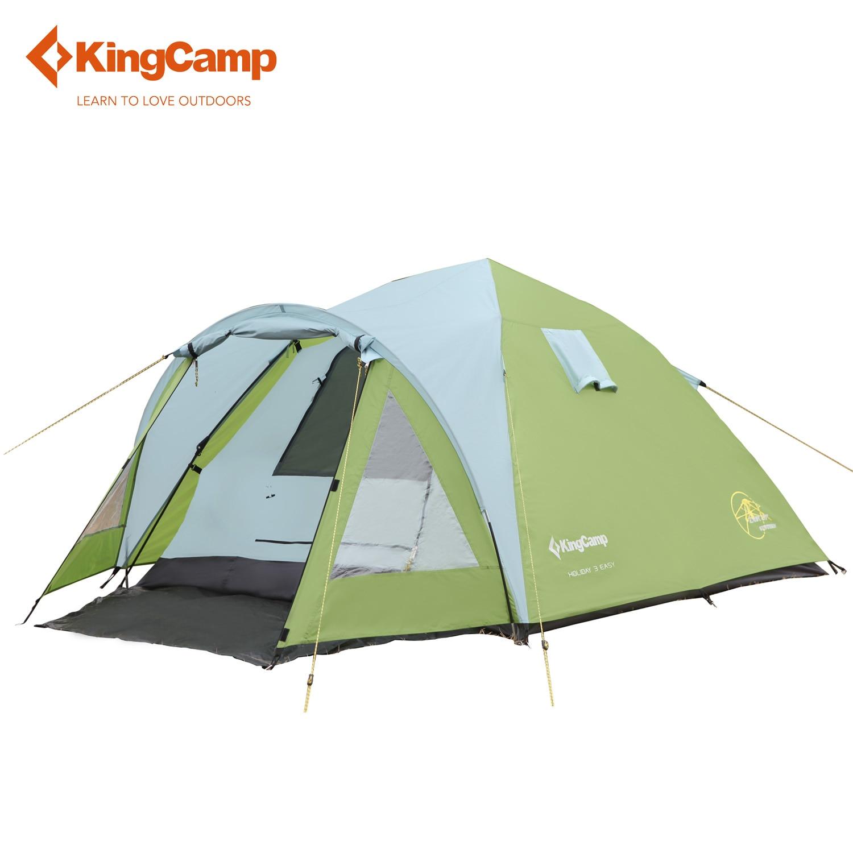 KingCamp палатка Водонепроницаемый ветрозащитный праздник 3 человек 3 сезона открытый палатка для Семья кемпинг