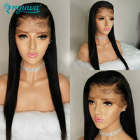 Straight Pre Plucked Full Lace Human Hair Wigs With Baby Hair Glueless Remy Hair Full Lace Wigs For Women Brazialian NYUWA Hair