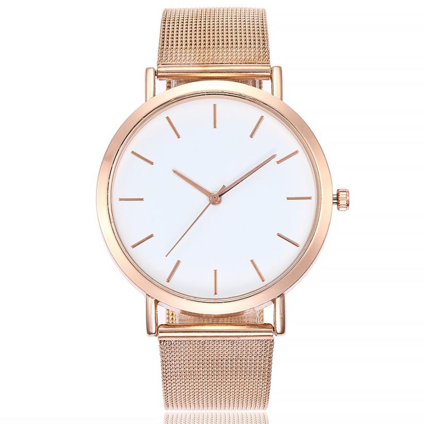 Women Watch New Casual Quartz Stainless Steel Gold Silver Band Relogio Marble Strap Watch Analog Wrist Watch women s split leather band stainless steel quartz analog bracelet watch w owl pendant grass green