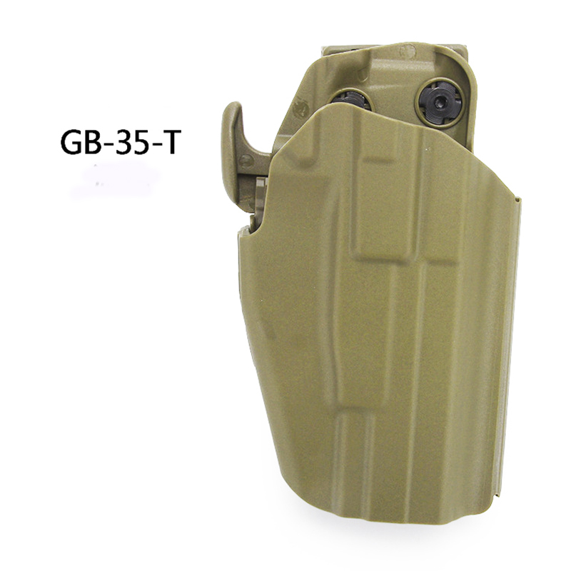 Tactical Gun Holster Accessory Waist Belt Gun Holster for Glock 18 20 21 22 37 and Others Hunting Shooting