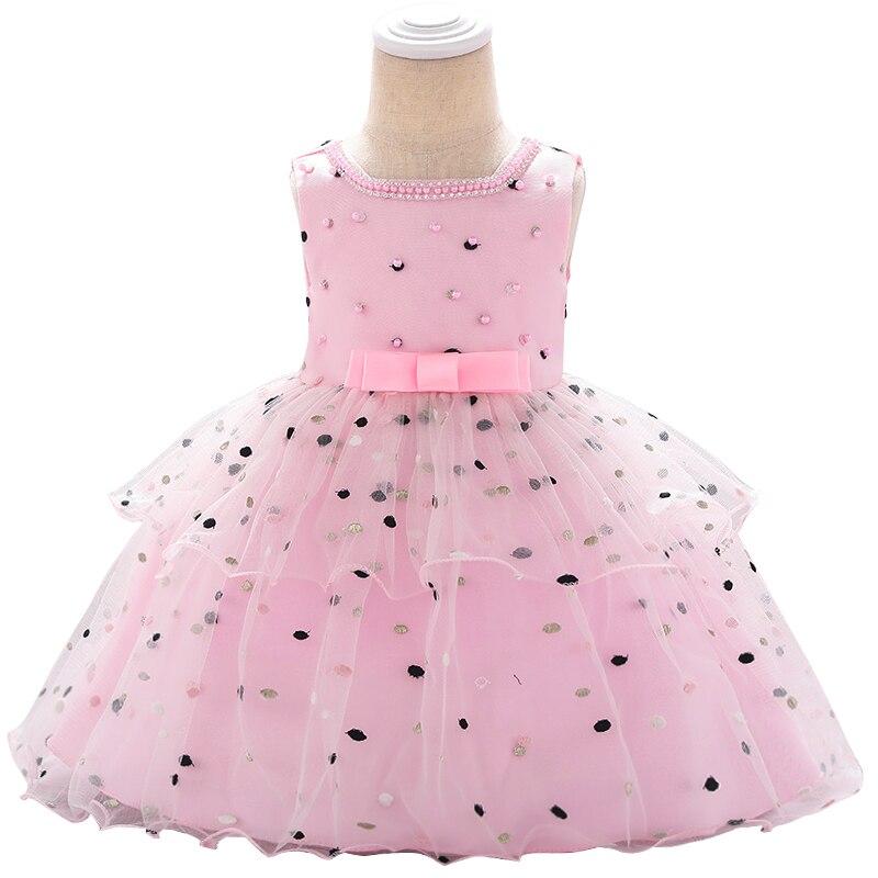New Style Baby Princess Birth Banquet Dinner Party Bead Dress Girl Kindergarten Graduation Ball Party Dinner Dress