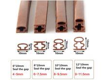 10 мм * 6 м самоклеящиеся d образные двери и для окон пенопластовая
