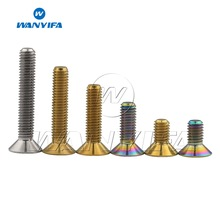 Wanyifa Titanium Bolt M5 x10 12 15 20 25 30mm Flat Countersunk Head Hex Socket Screw