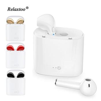 ab0be57c412 I7 auricular bluetooth gemelos Bluetooth V4.1 Stereo Auriculares  auriculares para IPhone Samsung Xiaomi Huawei eraphone para Sony LG HTC