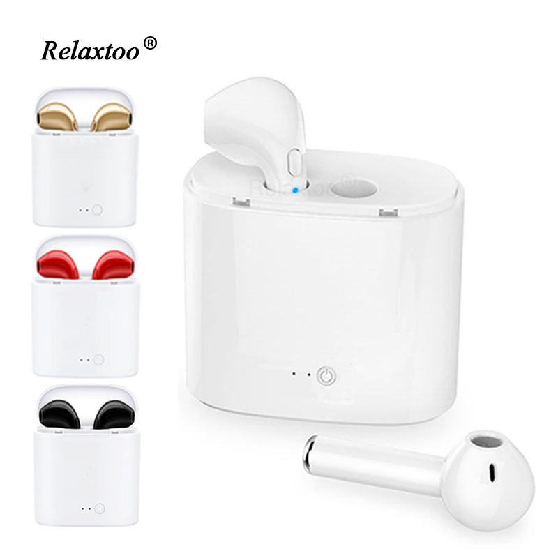 i7 bluetooth earphone Twins Bluetooth V4.1 Stereo Headset earphone For IPhone Samsung Xiaomi Huawei eraphone For Sony LG HTC