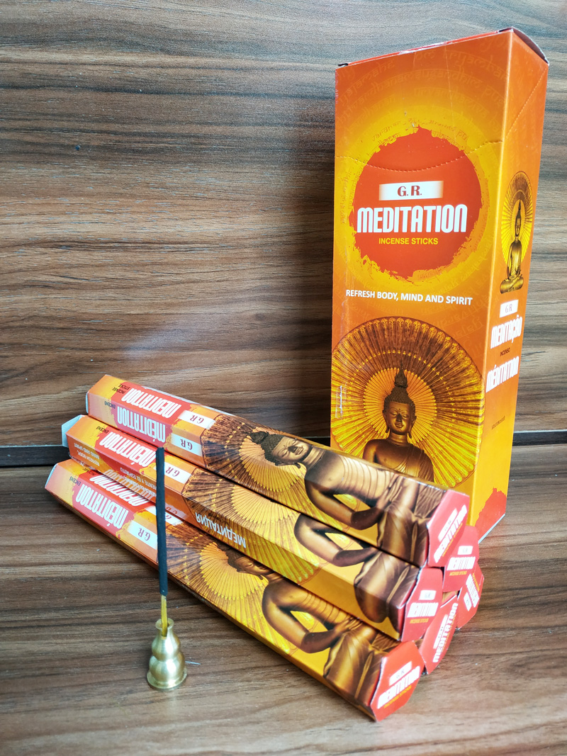 1 Small Box Indian Meditation Stick Incense Burning In Yoga Room Office For Meditation Room Fragrance Hand Rolled Aromatic Scent