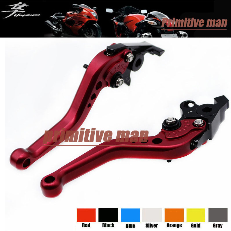 For SUZUKI GSX 1300R GSX1300R HAYABUSA 1999-2007 Motorcycle Accessories Aluminum short Brake Clutch Levers Red aftermarket free shipping motorcycle parts billet brake clutch hand lever for suzuki gsxr1300r hayabusa 1999 2007 black