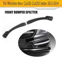 High Quality Real Carbon Fiber CLA Car Aprons Auto Car Front Bumper Spliiters For Benz Fit