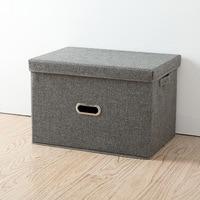 Storage Boxes Folding Cotton Linen Clothing Storage Bin For Ties Socks Shorts Bra Underwear Closet Organizer With Cover Portable