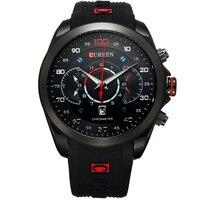 2015 New Fashion Military Curren Brand Design Army Calendar Men Male Clock Sport Rubber Luxury Wrist