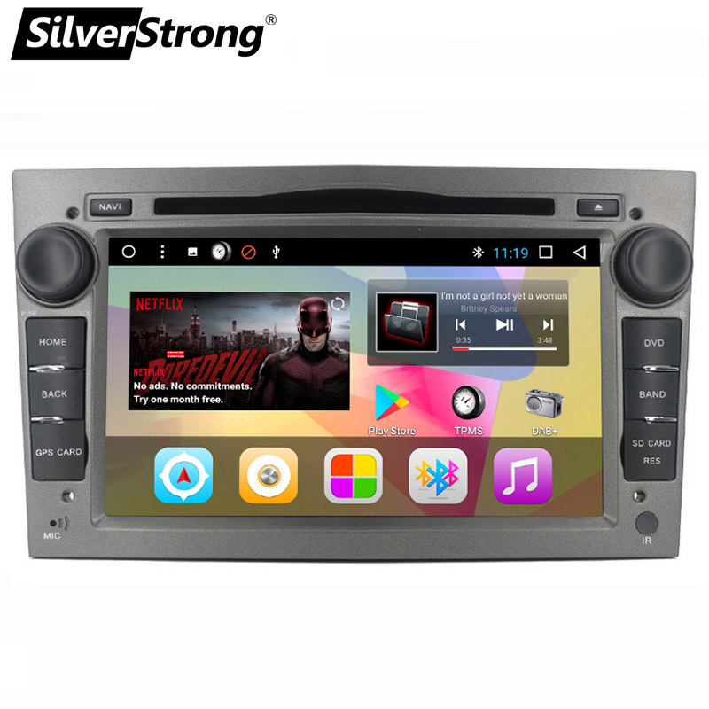 SilverStrong 7inch Android7.1 Player for Opel Universal Two Din Radio Car DVD for Opel Astra Antara Zafira Corsa Car GPS T3-1G silverstrong 7inch android8 0 universal 2 din car dvd 4g internet sim modem car radio auto stereo gps kd7000