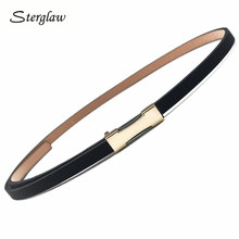 Cinturones delgados de diseñador para mujeres cinturones de alta calidad para niños 2019 marca de moda casual mujeres vestido cinturón de cuero cinturon cuero J115