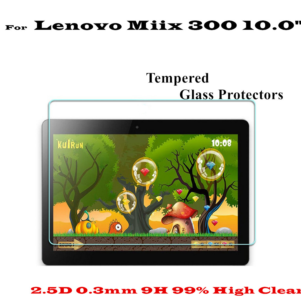 10.0 inch High Clear Anti scratch-resistant Miix 300 Glass Screen protectors For Lenovo Miix 300 tempered glass screen Protector benks tempered glass for xiaomi 5 2 5d radians screen protector