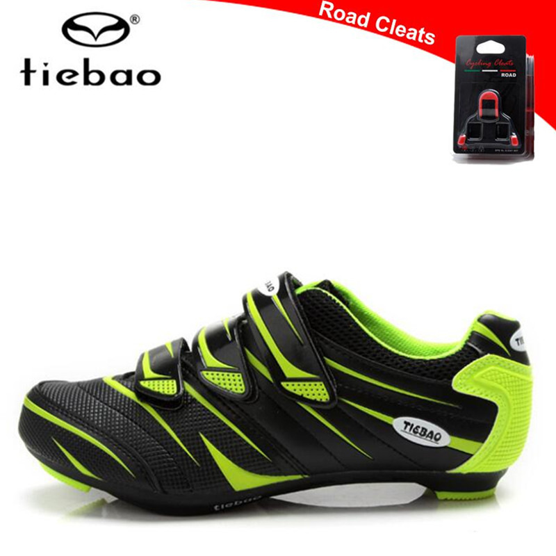 TIEBAO Road Cycling Shoes zapatillas deportivas mujer 2019 sapatilha ciclismo Green Bike Road Shoes Professional Bicycle Shoes