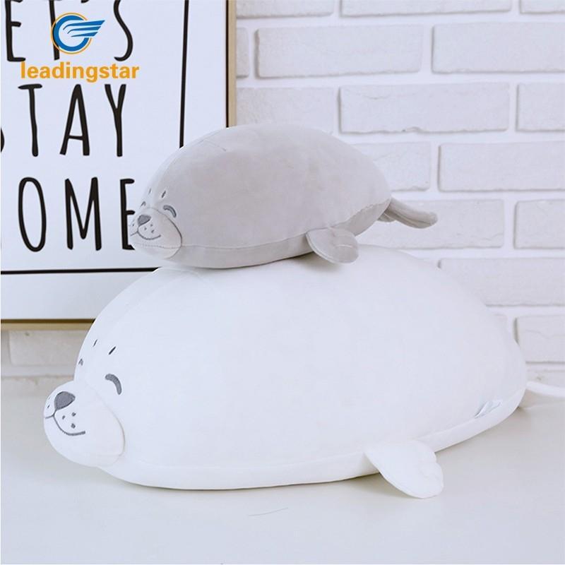 LeadingStar Soft Simulate Stuffed Seal Doll Elastic Plush Toy Christmas Birthday Gift Party Wedding Valentines Day Gi