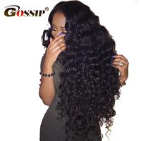 Gossip Hair 360 Lace Frontal Wig Pre Plucked With Baby Hair Brazilian Water Wave CurlyLace Front Human Hair Wig For Black Women