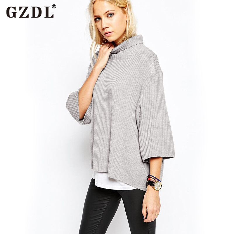 Aliexpress.com : Buy GZDL Fashion Women Kintted Sweater 3 ...
