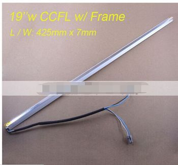 Universal 19inch wide CCFL Lamps for LCD Monitor Screen Panel w/ Frame Backlight Assembly Double lamps 425mm*7mm Free Shipping 2 unids 420 mm brillo ajustable led tira kit actualizacion 19inch wide monitor de 19 w lcd panel ccfl led luz de fondo