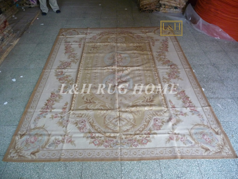Free shipping 8'x10' French Aubusson weave rugs handmade aubusson carpets