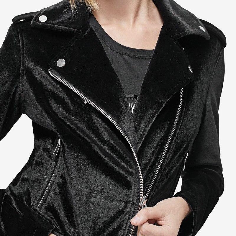 2018 New Women Black Khaki Soft Velvet J