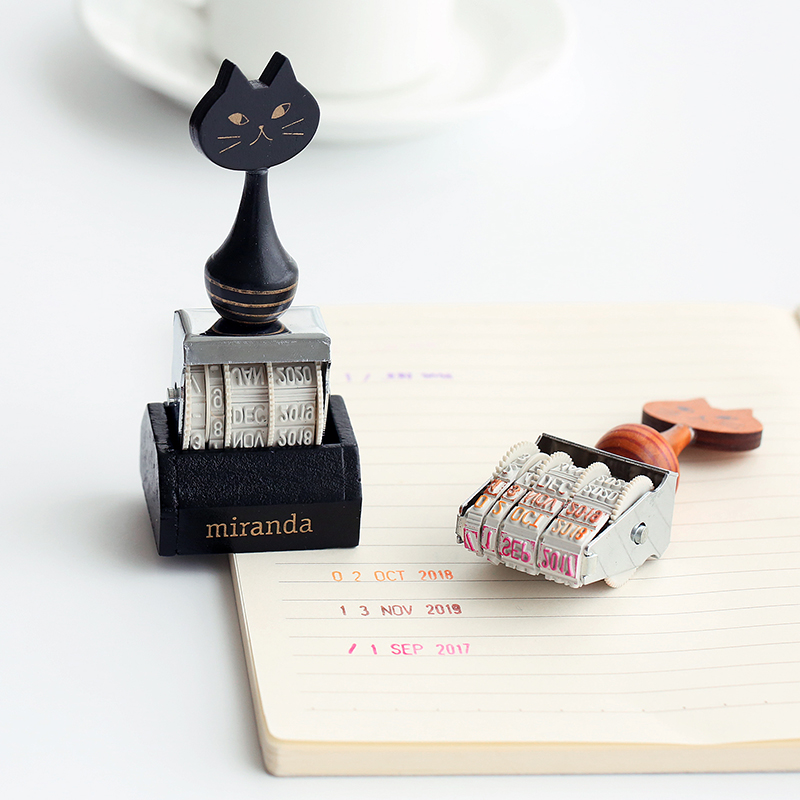 Jamie Notes Cute Cat Stamps Roller Date Stamps To School Seal Retro Stamp Notebook Personal Diary Diy Accessories 2015-2026 Year jamie notes cute cat stamps roller date stamps to school seal retro stamp notebook personal diary diy accessories 2015 2026 year