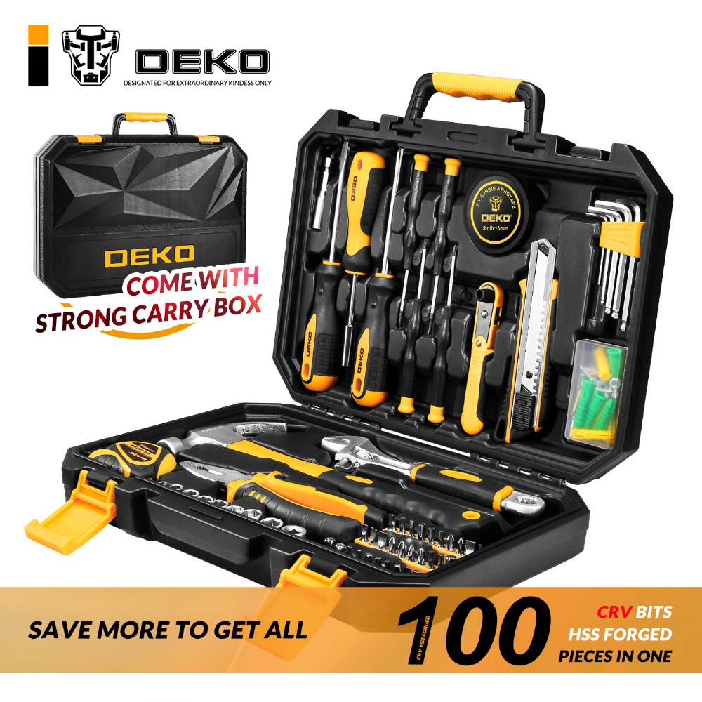 Basic Tool Set 100pcs for Car Home Depot and Chest DIY General Household Hand Tool Kit