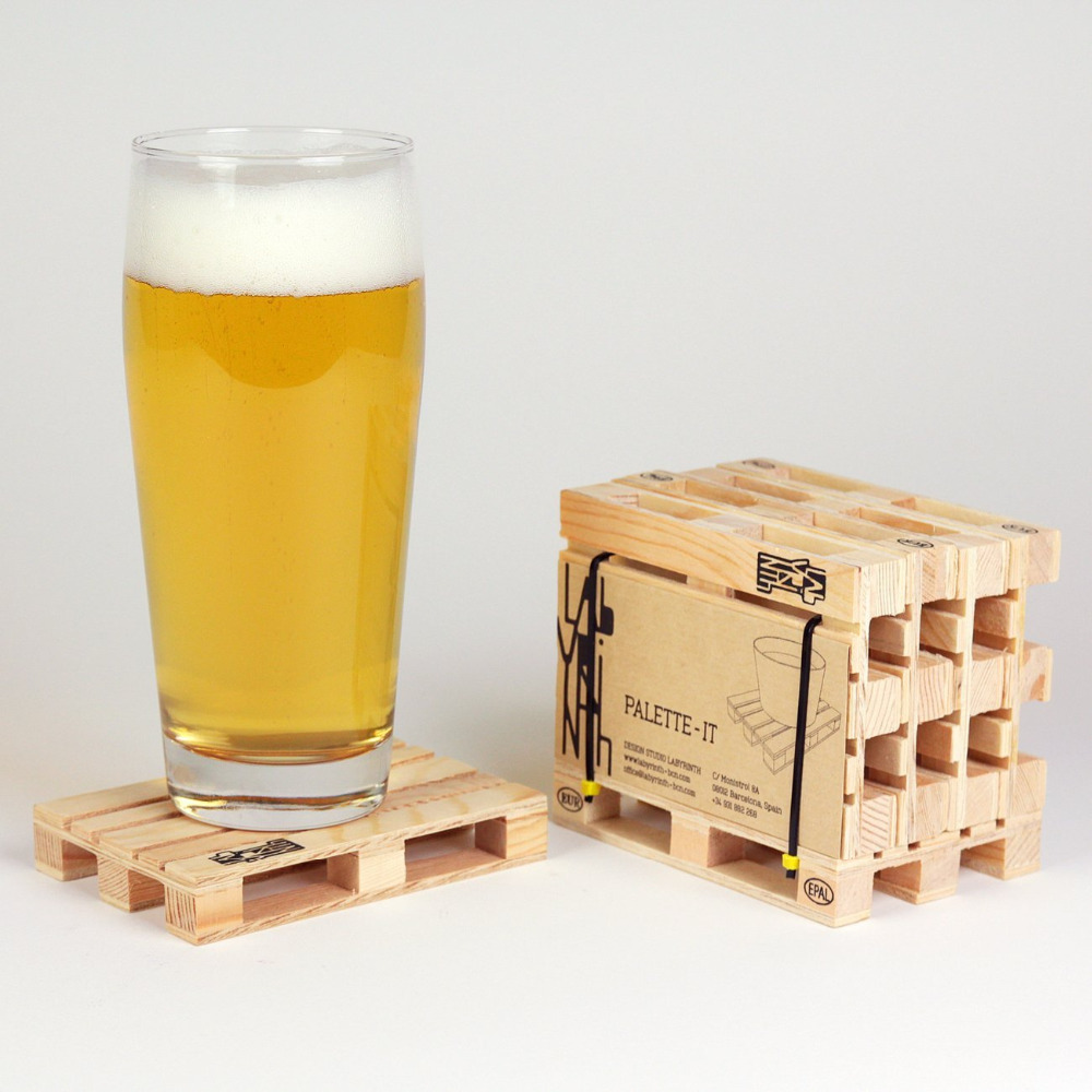 popular for glasses coasterbuy cheap for glasses coaster lots  - set of  miniature pallet wood beverage coasters drink wine glasses beerbottles whiskey glasses and